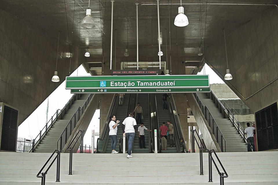 Entrada da nova Estação Tamanduateí