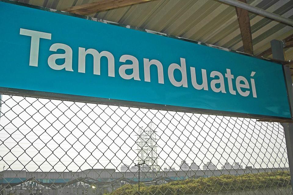 Placa da antiga Estação Tamanduateí