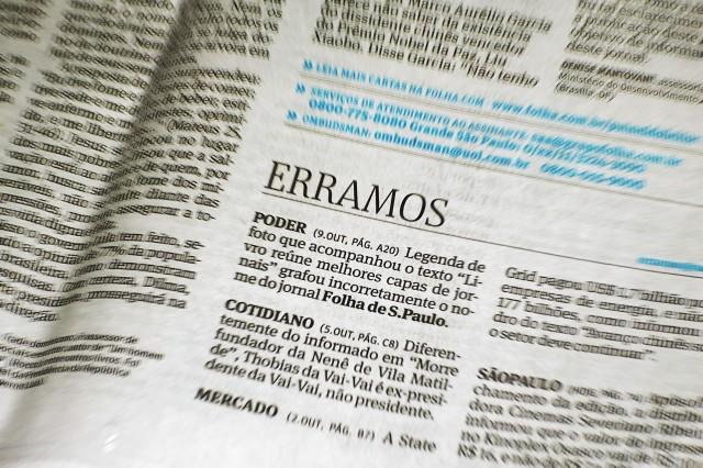 Erramos: Folha de S. Paulo (10 de outubro de 2010)