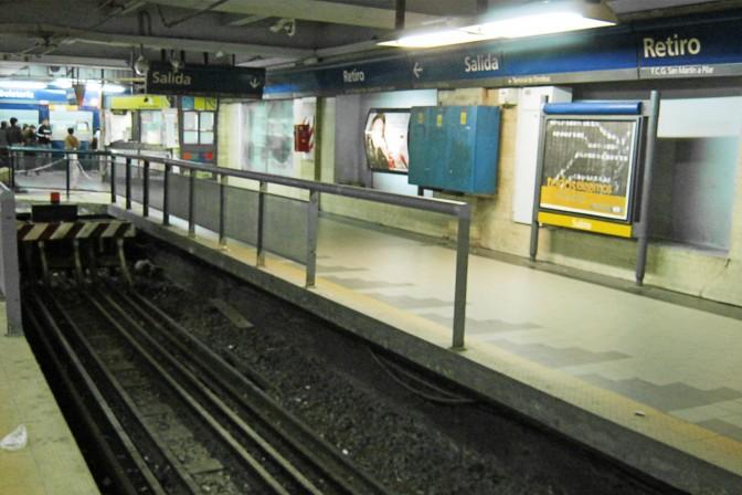 Plataforma da Estação Retiro do metrô