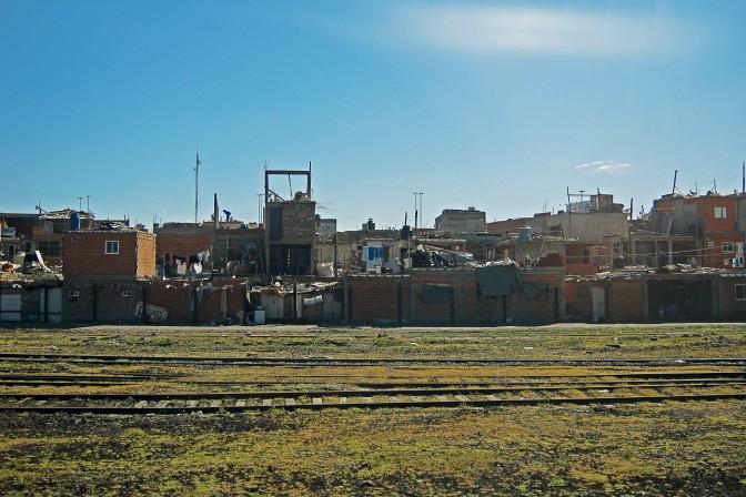 Favela próximo a Retiro, em Buenos Aires