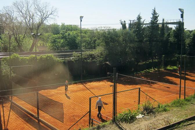 Quadras de tênis entre linhas em Buenos Aires