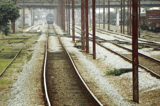 Leito da Linha 10 da CPTM visto da Estação Mooca