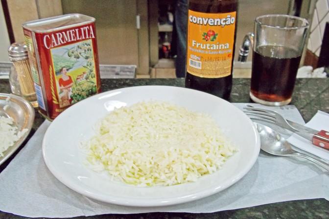 Risoto de azeite + tubaína