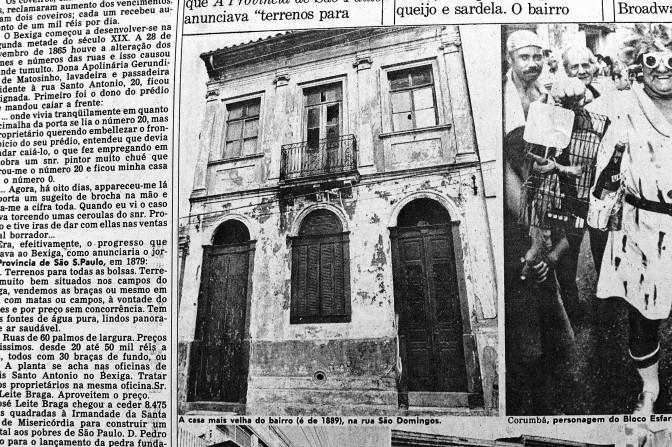 Casa mais antiga do Bixiga em 1981 (foto JT)