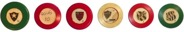 Times de botão: Botafogo, Goiás, Flamengo, Atlético-MG, Figueirense e Ceará