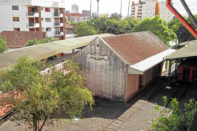 Depósito de trens em São Leopoldo