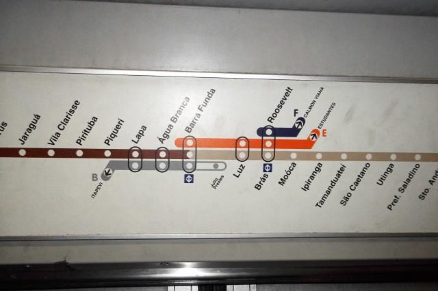 Mapa incorreto da Linha 7 da CPTM