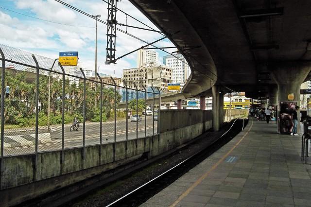 Vista da Estação Rodoviária da Trensurb