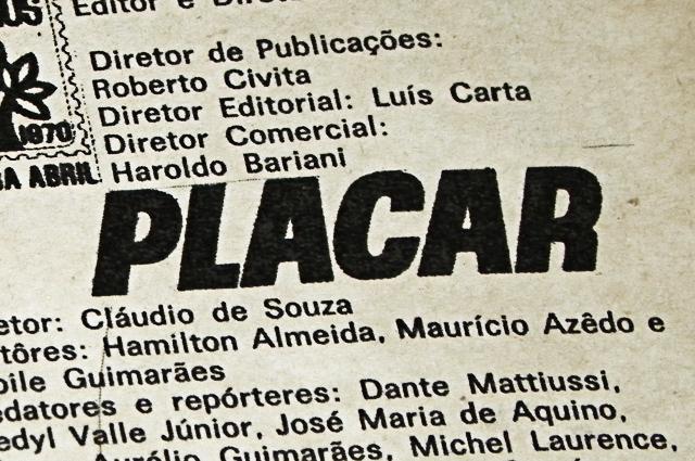 Placar: expediente em 1970