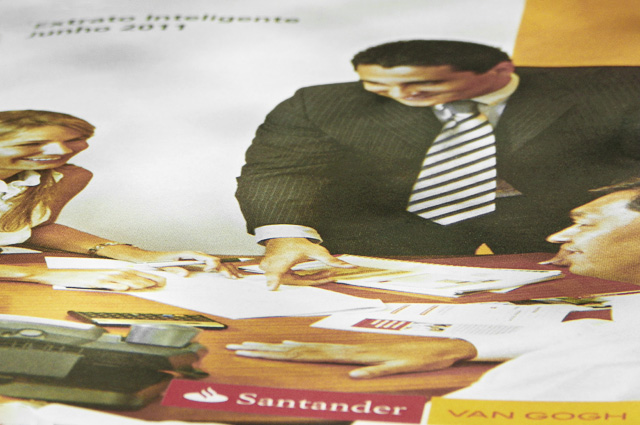 Capa do extrato do Santander
