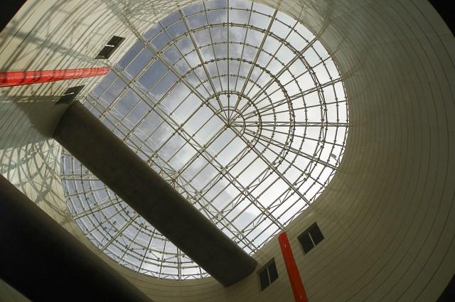 Estrutura de vidro no topo da Estação Luz