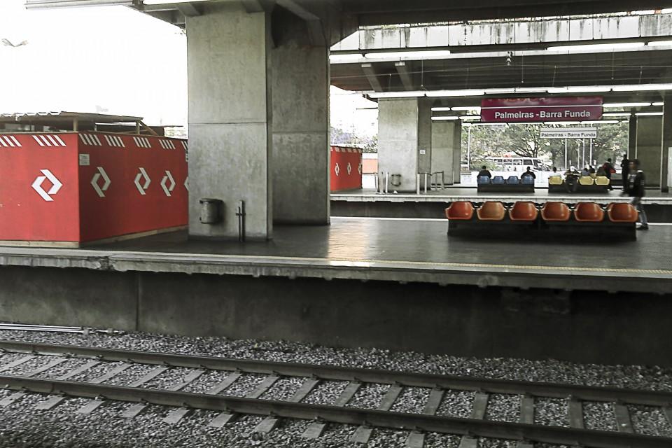 Plataformas 6 e 5 da Estação Palmeiras-Barra Funda