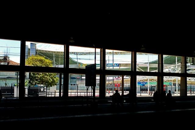 Estádio Engenhão, visto da Estação Engenho de Dentro