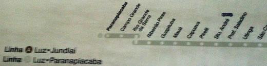 Mapa desatualizado da CPTM mostra Estação Campo Grande