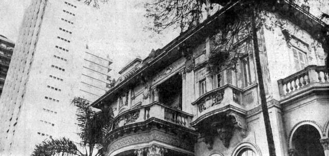 Palacete Fuad Salem em 1969 (foto de José Pinto/AE)