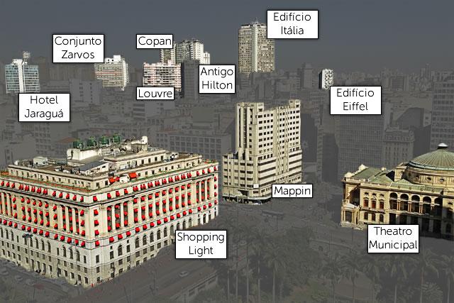 Edifícios destacados no centro de São Paulo
